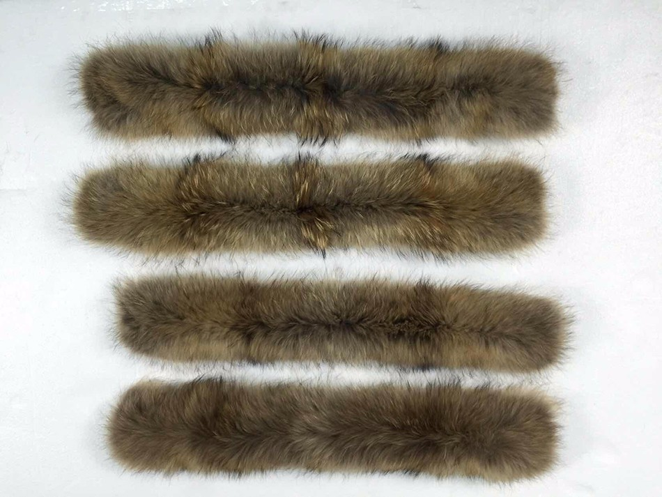 Foxmertor 2016 Winter Scarf 100% Real Raccoon Fur Collar & Women Scarves Multi Size Wholesale Luxury Natural Fur Female #F094