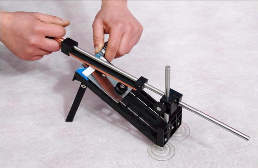 Buy Professional Kitchen Knife Sharpener System Fix-angle 4 Stones Cutlery Knife Sharpener System Wholesale cheap