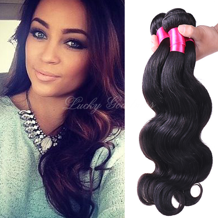 Wet And Wavy Human Hair Extensions Triple Weft Hair Extensions