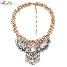 Buy 2016 NEW fashion necklace collar Necklaces & Pendants trendy crystal pendant bib chunky chain choker statement necklace for $6.75 in AliExpress store
