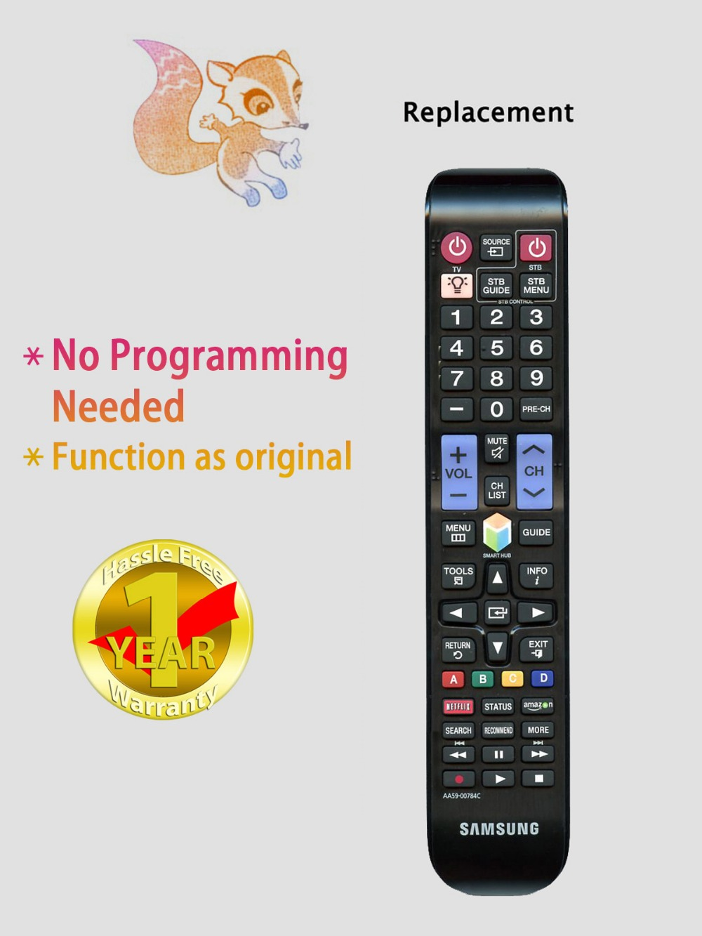 USARMT Brand Brand New Universal Remote Control AA59-00784C FOR SAMSUNG LCD TV Free Shipping(China (Mainland))