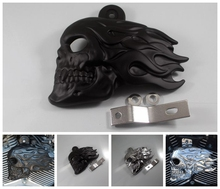 Cruiser motorcycle horn wildfire Kito skull carburetor engine cover protective cover decorative metal trim cover speaker trim
