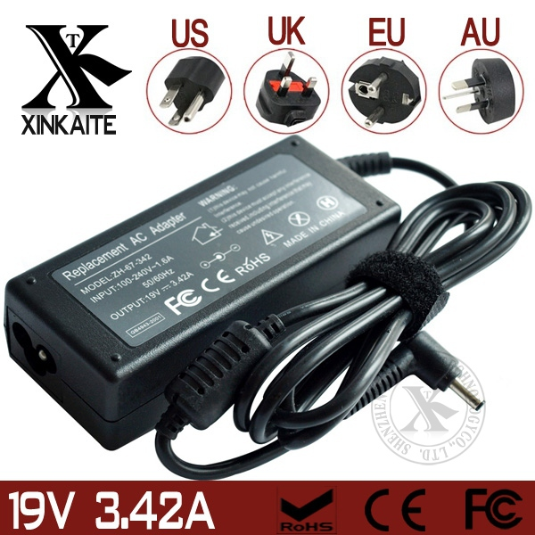 Portable Mini PC Charger 19V 3.42A 65W For Asus Ulrtabook UX32 UX32VD Tablet Charger + EU/AU/US/AU Plug(China (Mainland))