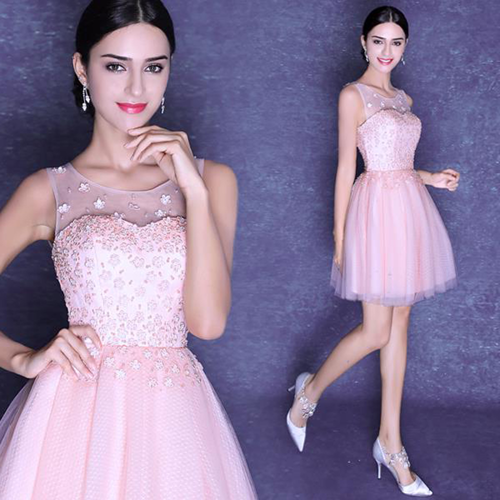 new 2016 lace appliques beaded scoop tank mini homecoming dress plus size and cheap,383,ty,hd(China (Mainland))