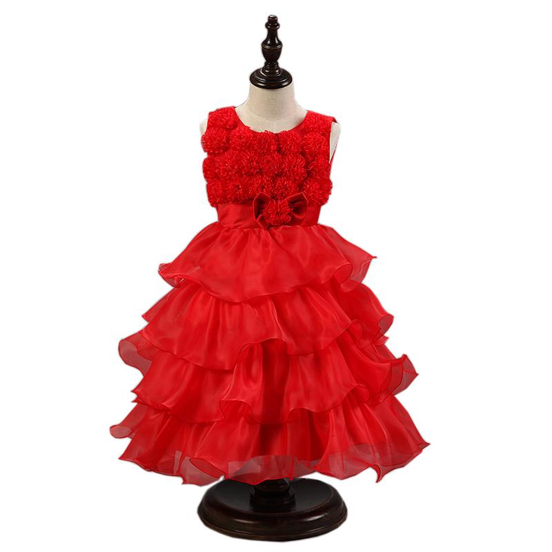 years baby girls dress kids wedding costume girl sweat flower dresses