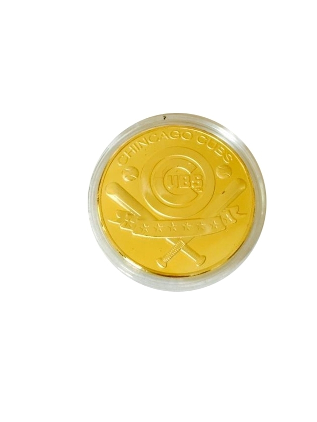 Chicago Cubs Normal Gold Plated Coin Bear Cubs Commemative Baseball Coin Challenge Coin For Decoration and Colletion(China (Mainland))