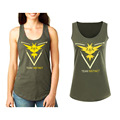 Pokemon Go Women T shirt Vest Tank Tops Cotton Sleeveless Letter Print Mystic Valor Team Slim