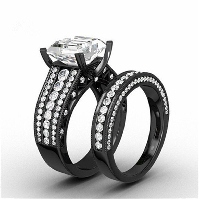 buy black gold filled wedding ring band. Black Bedroom Furniture Sets. Home Design Ideas