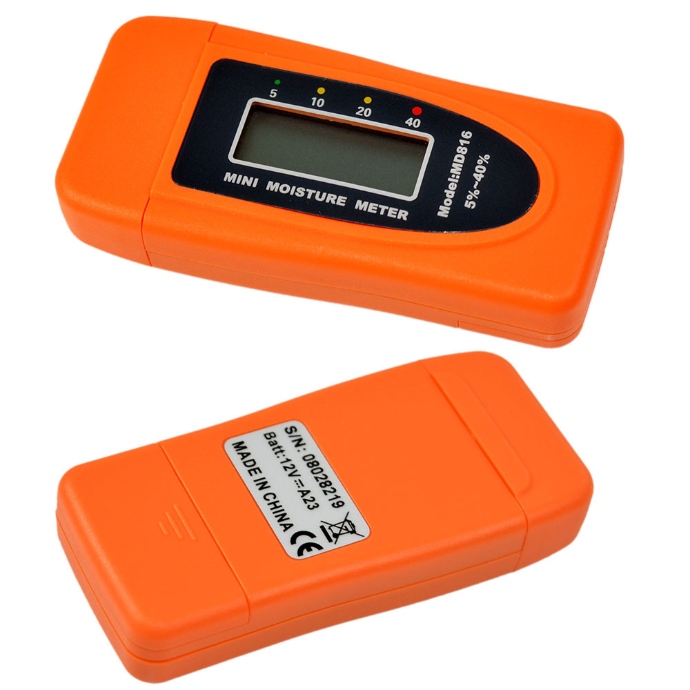 Moisture Meter Wood Bamboo Cotton Mini 2Pins LCD Tester Timber Damp Detector MD816
