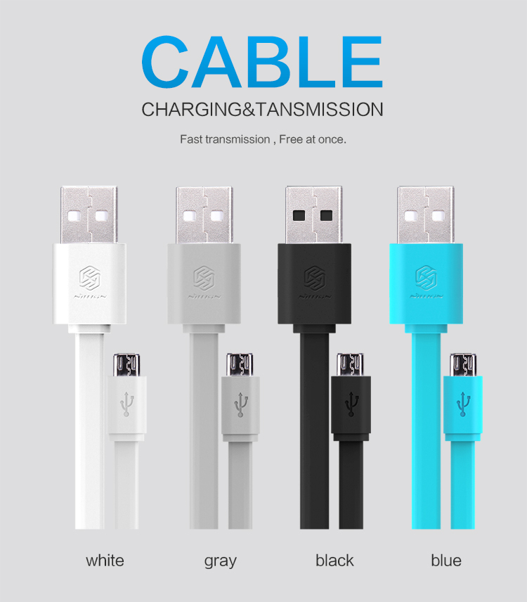 120cm New Original Nillkin Micro USB 2.0 5V/2A top speed Charging Cable Samsung Sony Lenovo HTC xiaomi HUAWEI LG +package - Phone House Co., LTD store