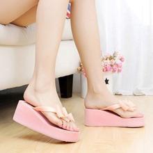 Summer Flip Flops Women Sandals 2016 New Bohemian Muffin Slope For Girls Drag Shoes scarpe donna SWXX057