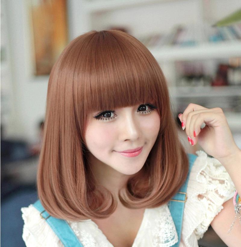 Synthetic brown short curly wigs Stylish Women pop Hair Full head Wigs Perruque peruca feminina peluca(China (Mainland))