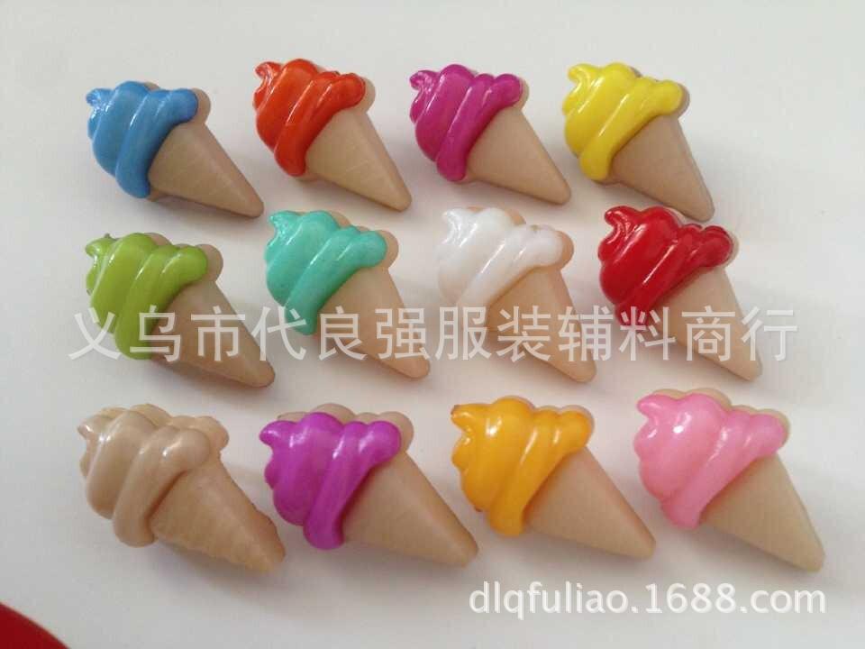 Larry mixing ice cream factory Shelf cartoon buttons, buckles decorative ice cream cake(China (Mainland))
