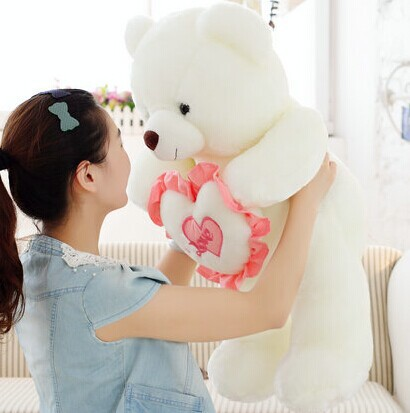 LOVE YOU size 70 cm heart birthday baby bear WJJA2195 plush stuffed toys girl lovers Children valentine gift