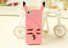 3D Cartoon Pikachue Soft Silicone Case Samsung Galaxy A5 A7 E5 E7 S5 S6 NOTE 3 4 Cover Capa Para Fundas - Lucy Shop store