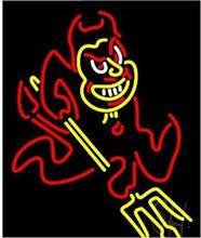 Fashion Neon Sign Arizona State Sun Devils ASU  Handcrafted Neon Light Sign Beerbar Sign 19x15.Free Shipping!(China (Mainland))