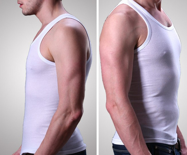 NEW 2014 Men Tank Tops Tees summer Undershirts Soft Cotton men vest FREE SHIPPING
