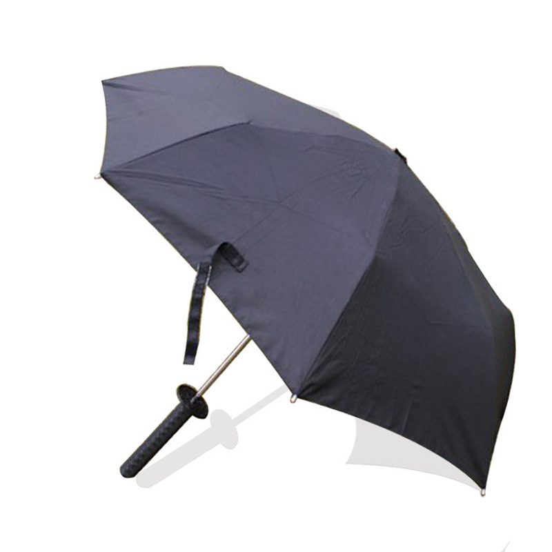 New Creative Three Fold Umbrella Male The samurai Umbrellas Short paragraph Sword Umbrella Hot Sale!(China (Mainland))