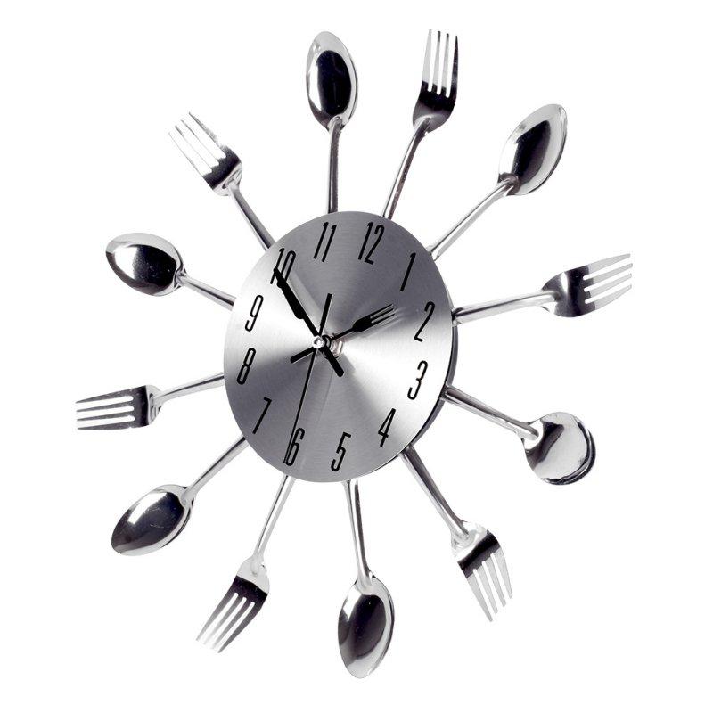 g nial deco salon moderne avec horloge murale inox cuisine. Black Bedroom Furniture Sets. Home Design Ideas