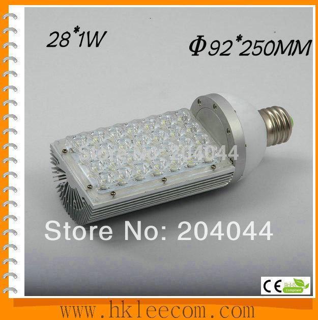 2015 Free Shipping:4pcs/lot ,28w Led Street Light E26/27,e40 Base ,rotation 360 Degress,ac85-265v Input Voltage,ip54 ,ce Rohs.(China (Mainland))