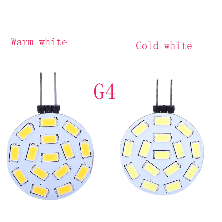15 LED G4 SMD 5730 Led Lamp 3W LED Lighting Lamp G4 5730 round Lamp White/Warm White 1H(China (Mainland))