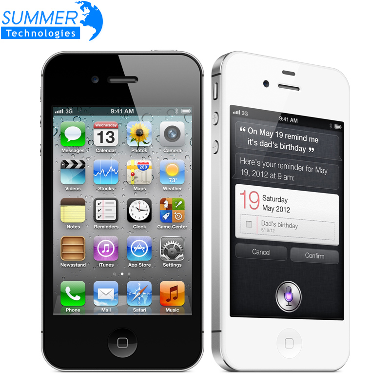 "Original Unlocked Apple iphone 4S Cell phones 3.5"" Retina IPS 16GB ROM Mobile Phone 8MP 1080P WCDMA GPS IOS Used(China (Mainland))"