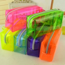 Fashion stationery Pencil Bag transparent Pen Cases Student school storage bag Supplies files organazier Lady Cosmetic Bag gifts