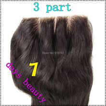 8A Free Shipping Brazilian Virgin 100 Human Hair Closures Straight Lace Closure Top 4 4 Middle