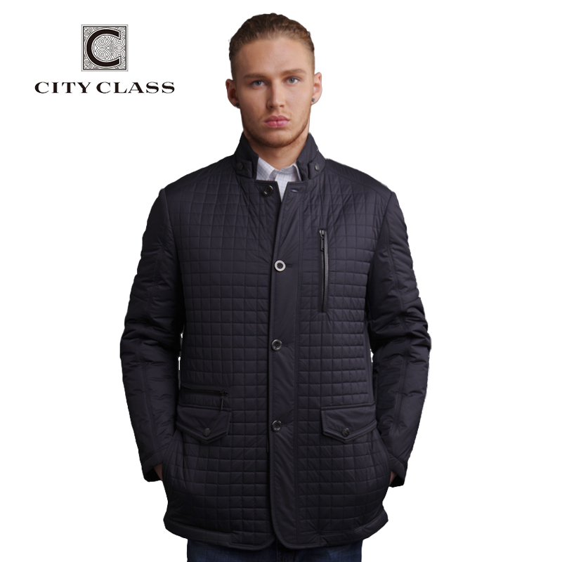 CITY CLASS New Spring Autumn Man Casual Jacket Fashion Slim Quilted coat Suit Stand Collar Jackets Business style for male 13021(China (Mainland))