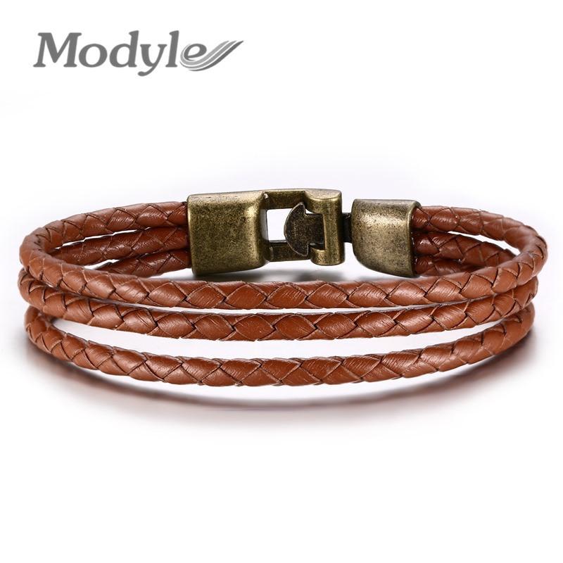 2016 New Fashion 100% Genuine Braided leather bracelet Men Bracelet for Women Jewelry with Magnetic Clasps Charm Bracelet(China (Mainland))