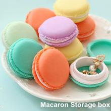 6 stück/lot mini-teddy Macaron aufbewahrungsbox süßigkeiten veranstalter für schmuck caixa organizadora zakka geschenk neuheit Haushalte 5028(China (Mainland))