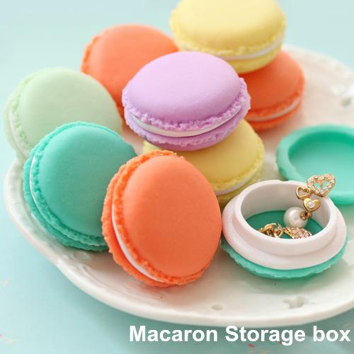 6 pcs/Lot Mini teddy Macaron storage box Candy organizer for jewelry caixa organizadora zakka Gift Novelty households 5028(China (Mainland))