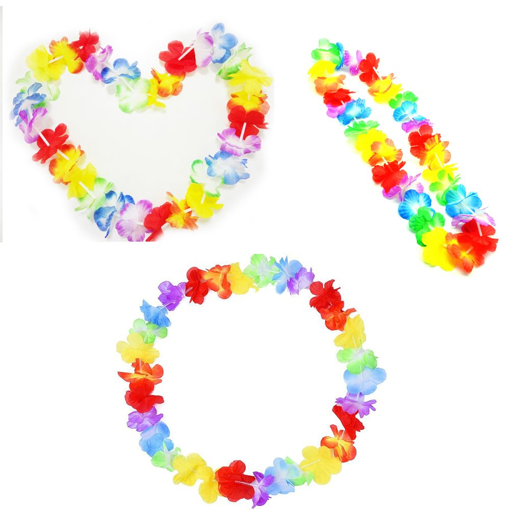 Online buy wholesale flower delivery hawaii from china flower fashion 10pcsset hawaiian flower leis garland necklace fancy dress party hawaii beach fun flowers dhlflorist Gallery
