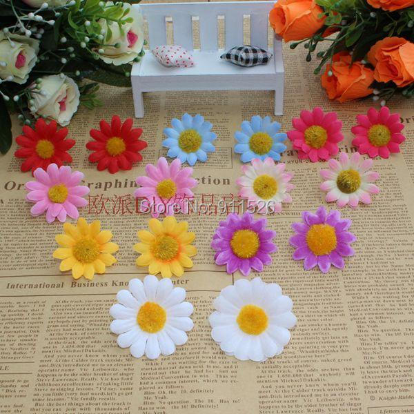 100Pcs Artificial Gerbera Daisy Silk Flowers Heads For DIY Wedding Party AF7939(China (Mainland))
