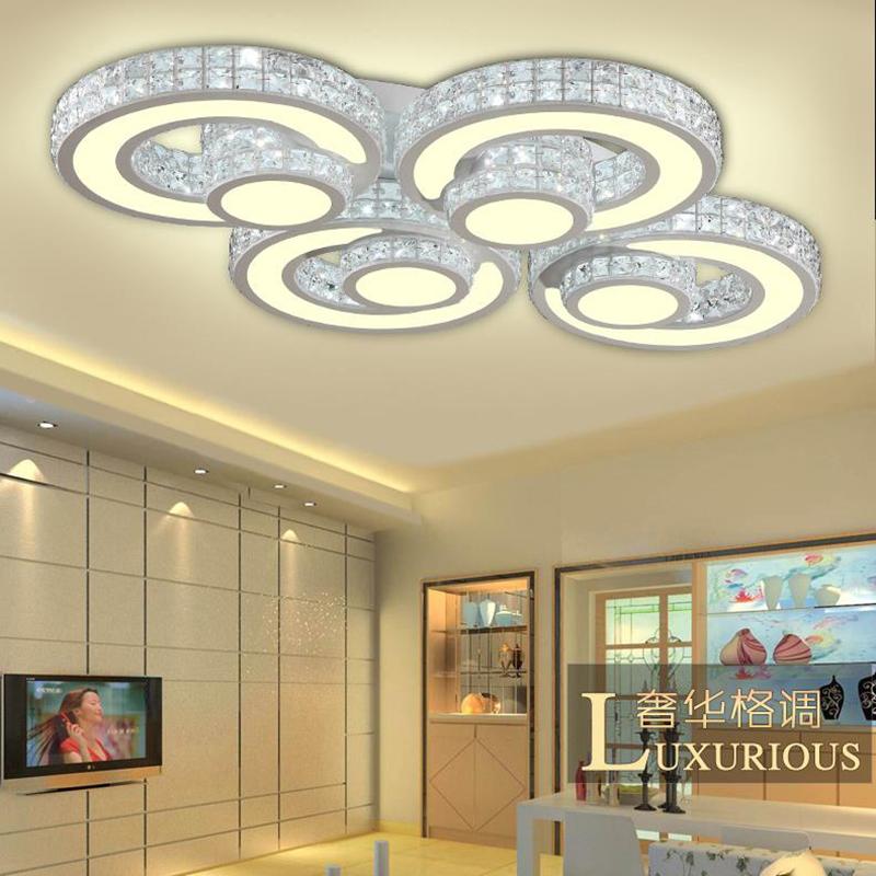 Hot crystal modern led ceiling lights for living room bedroom home indoor decoration led ceiling lamp lighting light fixtures(China (Mainland))