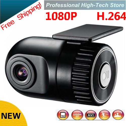 Free Shipping Car Camera Car Electronics 140 degree wide view shooting HD 1920*1080 Smallest Car DVR Cam recorder G-sensor(China (Mainland))