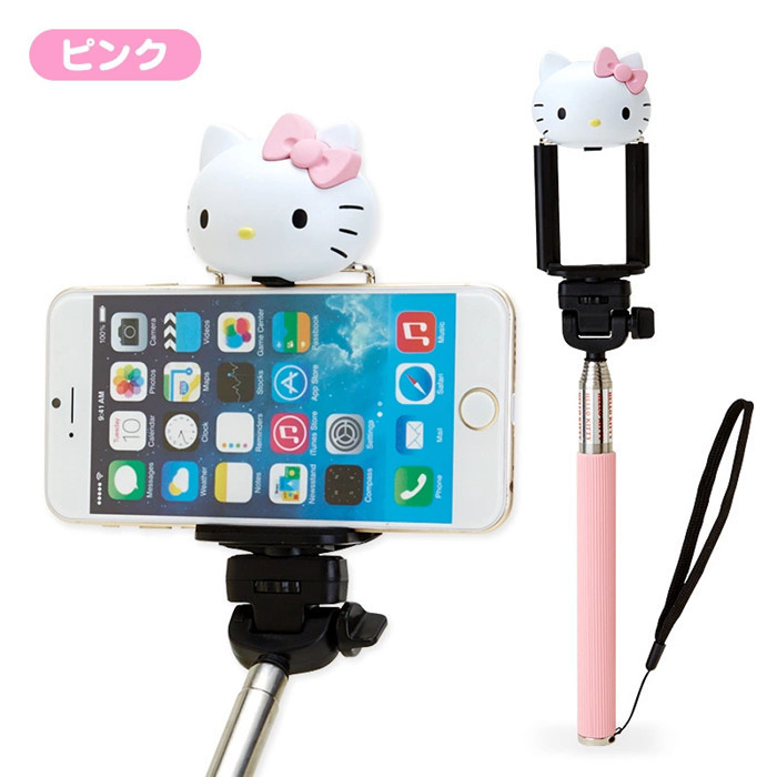 mobile Phones & Accessories Japan original cartoon hello kitty Camera Self Selfie Stick case For iphone samsung Monopod Tripod(China (Mainland))