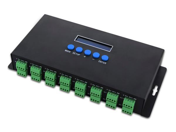 BC-216 Artnet to SPI/DMX pixel light controller;Eternet protocol input;340pixels*16CH+ two ports(2X512 Channels)output;(China (Mainland))