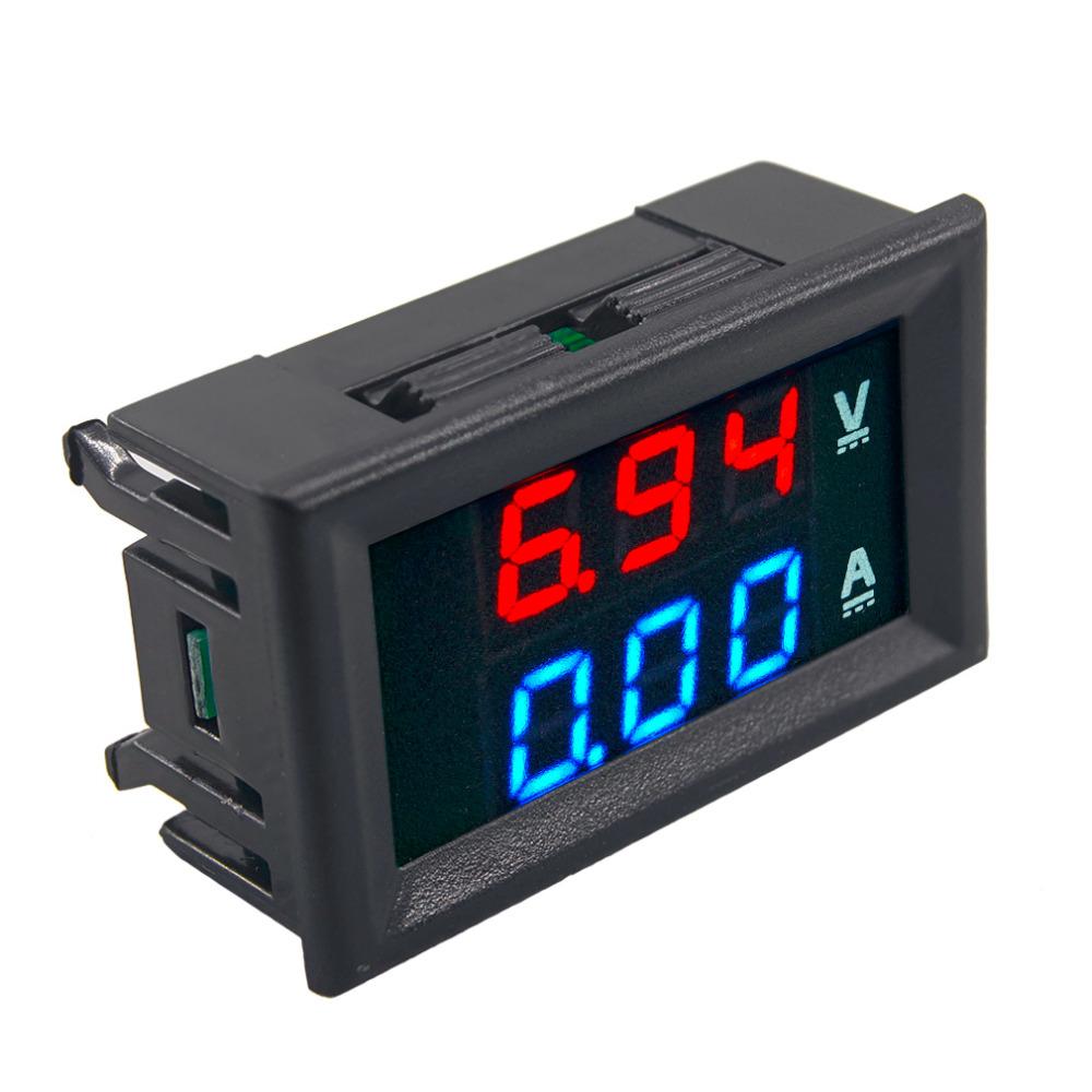 Top Quality DC 100V 10A Voltmeter Ammeter Measuring Tools Blue + Red LED Display Amp Dual Digital Volt Meter Gauge(China (Mainland))