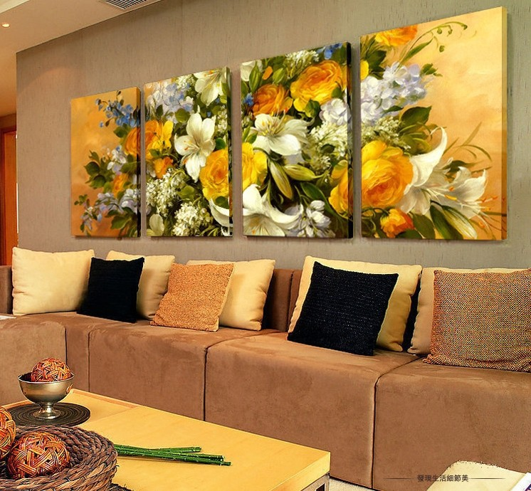 E buy oil painting wall art beautiful flowers decoration abstract landscape oil paintings on - A beautiful painting on wall ...