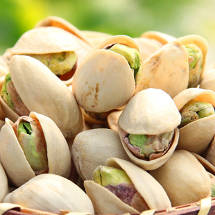 Nut roasted seeds and nuts snacks self-shade pistachion original pistachios 500g nuts natural color big(China (Mainland))