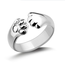 Кристалл Cat Claw Кольца для Женщин с Серебряным Покрытием, как Рождественский Подарок Для Женщин ювелирные изделия(China (Mainland))