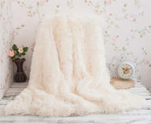 Winter Warm Plush Sofa Bed Knee Blanket Soft Cozy Fuzzy Fur Faux Couch Long Shaggy Throw Blanket(China)