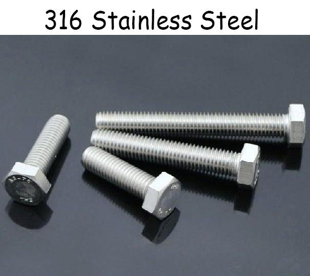 4 Pcs M10*50mm 316 Stainless Steel Hexagon Head Bolt Set Screw Marine Grade(China (Mainland))