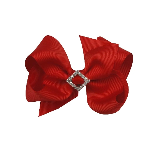 """30pcs 4"""" Chunky Boutique Bow with Rhinestone Slider Center With Clips 36color choose 5(China (Mainland))"""