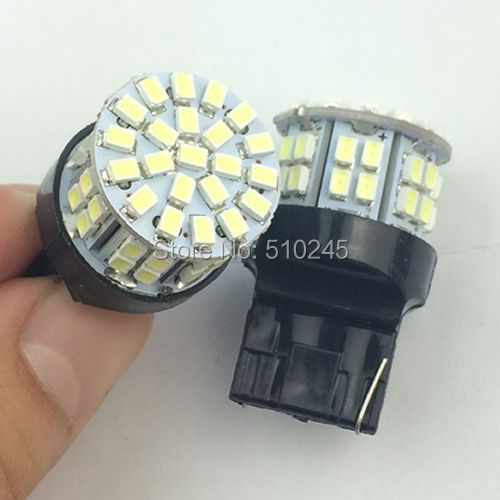 100x Car led T20 W215W 50smd 7440 50 led smd 3020 1206 turn signal light bulb lamp WHITE Free shipping(China (Mainland))