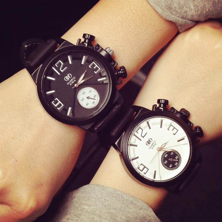 Hot Marketing Fashion Unisex Men Women Silicone Quartz Analog Wrist Watch Watches Jun6