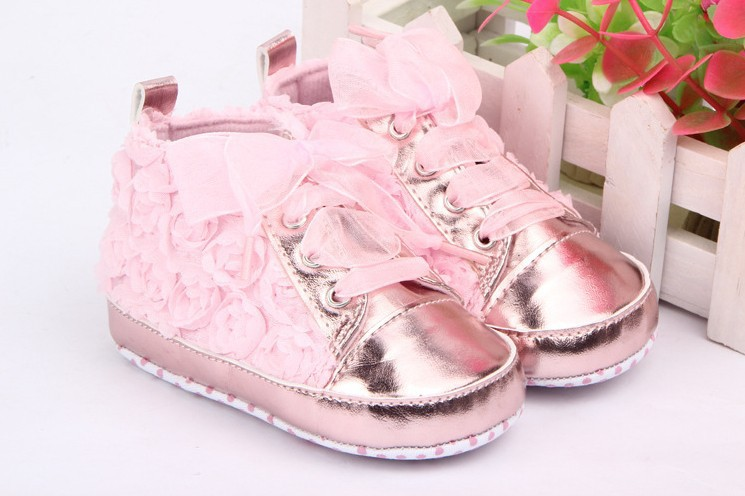 Baby first walkerskids Toddler Shoes sapatos baby Lace-up Rose flower soft sole Girl shoes 3 colors - Fashion 2016 Shopping store