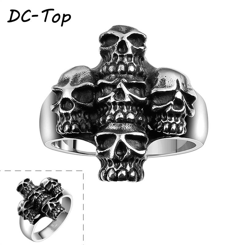 Latest Best Selling Various Styles Jewelry Rings 316L Stainless Steel Punk Ring Skull Stylish Accessories(China (Mainland))