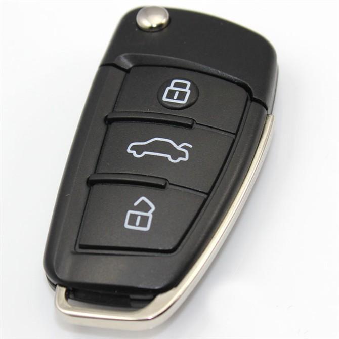 Brand New Car key USB 3.0 flash drive thumb memory stick pen drive 8GB 16GB 32GB 64GB 128GB 256GB best gift USB keychain AUDI(China (Mainland))